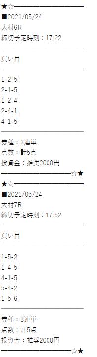 万舟JAPANの初心者限定プラン買い目画像