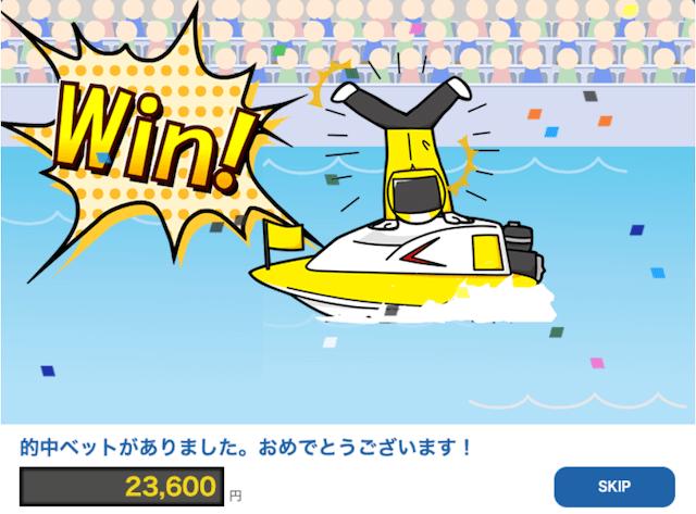 競艇神風:平和島6RのWIN画像